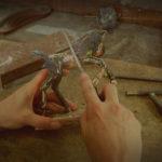 Veulen brons beeld atelier